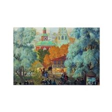 Kustodiev - Province Rectangle Magnet