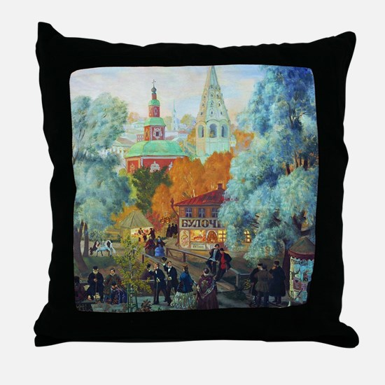 Kustodiev - Province Throw Pillow