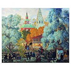 Kustodiev - Province Poster