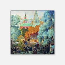 """Kustodiev - Province Square Sticker 3"""" x 3"""""""