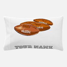 Footballs (Custom) Pillow Case