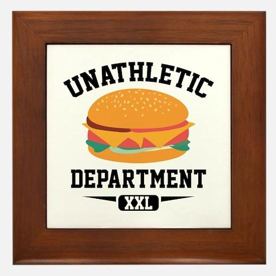 Unathletic Department Framed Tile