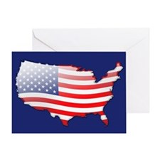 """United States Bubble Map"" Greeting Card"