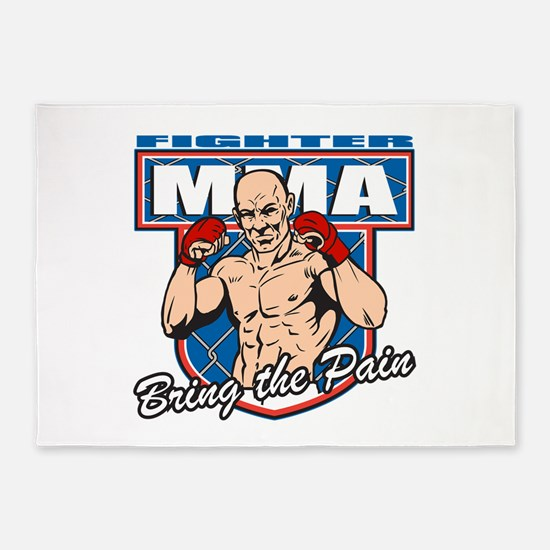 MMA Fighter 5'x7'Area Rug