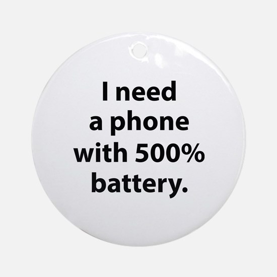 500 Percent Battery Ornament (Round)