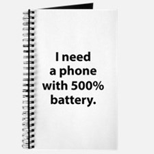 500 Percent Battery Journal