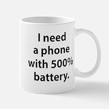 500 Percent Battery Mug