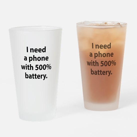500 Percent Battery Drinking Glass