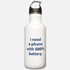 500 Percent Battery Water Bottle