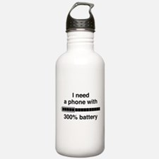 300 Percent Battery Water Bottle