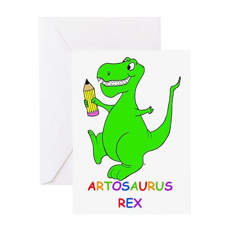 Artosaurus Rex Greeting Card
