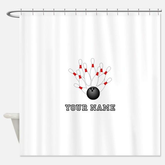 Bowling Strike Shower Curtain
