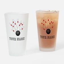 Bowling Strike Drinking Glass