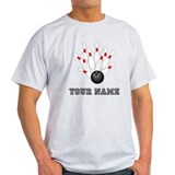 Bowling personalized Mens Light T-shirts