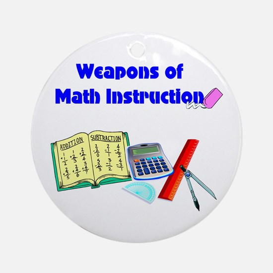 Scott's Weapons of Math Destruction Ornament (Roun