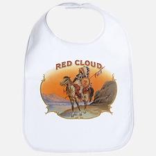 Vintage Cigar Label Art; Red Cloud Indian Hors Bib