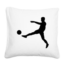 Soccer Player Square Canvas Pillow