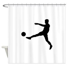 Soccer Player Shower Curtain