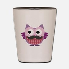 Mustachioed owl, Purple Shot Glass