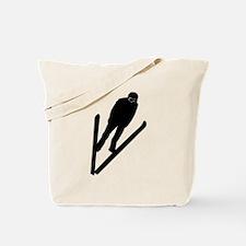 Ski Jumper Tote Bag