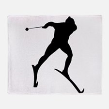 Cross Country Skier Throw Blanket