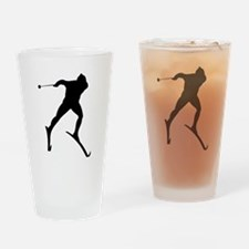 Cross Country Skier Drinking Glass