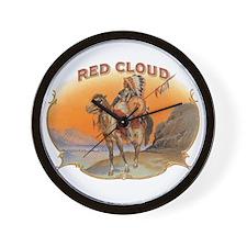 Vintage Cigar Label Art; Red Cloud Indi Wall Clock