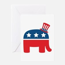 Republican Elephant Greeting Cards
