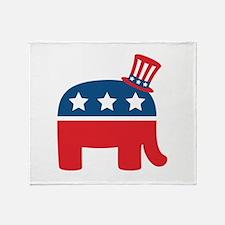 Republican Elephant Throw Blanket