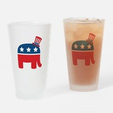 Republican Elephant Drinking Glass