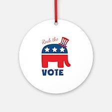 Rock The Vote Ornament (Round)