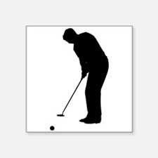 Golfer Putting Sticker