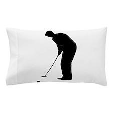 Golfer Putting Pillow Case