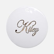 Gold Kiley Round Ornament