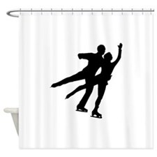 Figure Skaters Shower Curtain