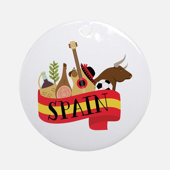 Spain 1 Ornament (Round)