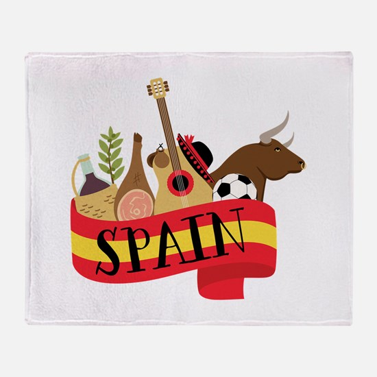 Spain 1 Throw Blanket
