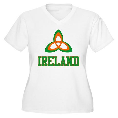 Irish Trinity Women's Plus Size V-Neck T-Shirt