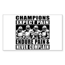 Football Champions Never Compl Decal