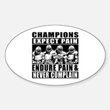 Football Champions Never Comp Sticker (Oval 10 pk)