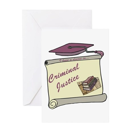 Criminal Justice Degree Greeting Card