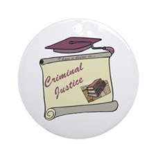 Criminal Justice Degree Ornament (Round)