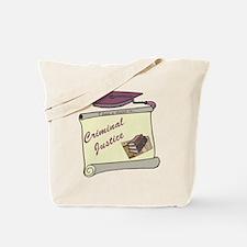 Criminal Justice Degree Tote Bag