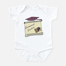 Criminal Justice Degree Infant Bodysuit