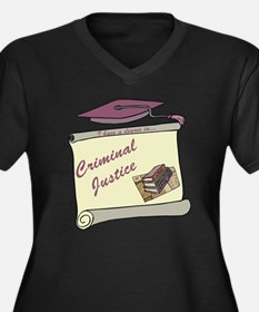 Criminal Justice Degree Women's Plus Size V-Neck D