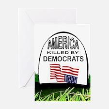 DEMOCRAT GRAVE Greeting Cards
