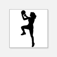 Womens Basketball Player Sticker