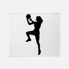 Womens Basketball Player Throw Blanket