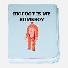 Bigfoot Is My Homeboy baby blanket