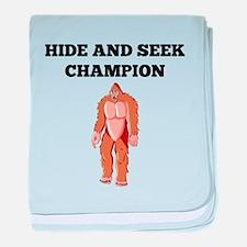 Bigfoot Hide And Seek Champion baby blanket